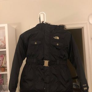 Kids black North Face jacket